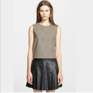 Theory Focha Crop Top Houndstooth size L